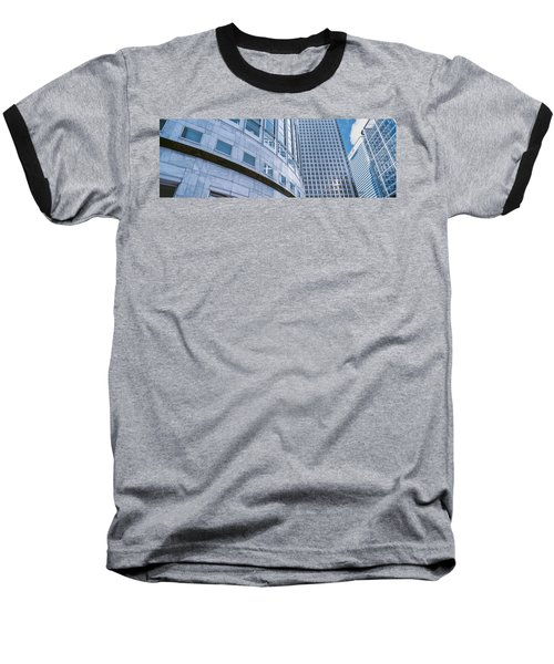 Skyscrapers In A City, Canary Wharf Baseball T-Shirt by Panoramic Images