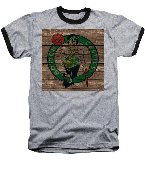 The Boston Celtics 1e Baseball T-Shirt by Brian Reaves