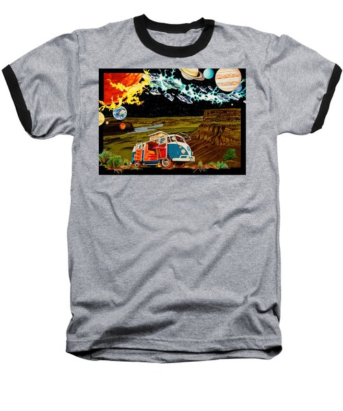 The Gorge One Sweet World Baseball T-Shirt by Joshua Morton