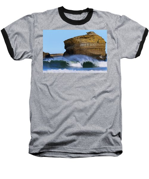 Baseball T-Shirt featuring the photograph The Wave by Thierry Bouriat