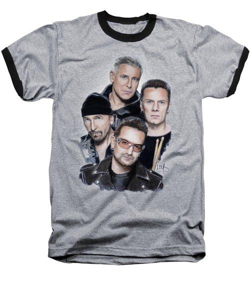 U2 Baseball T-Shirt by Melanie D