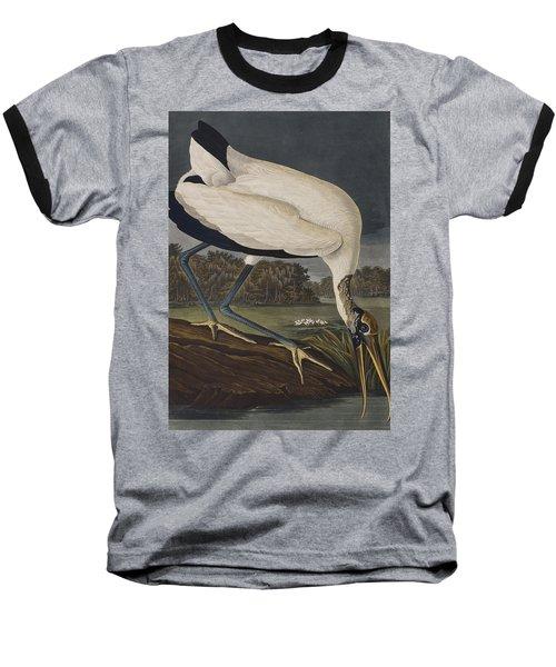 Wood Ibis Baseball T-Shirt by John James Audubon