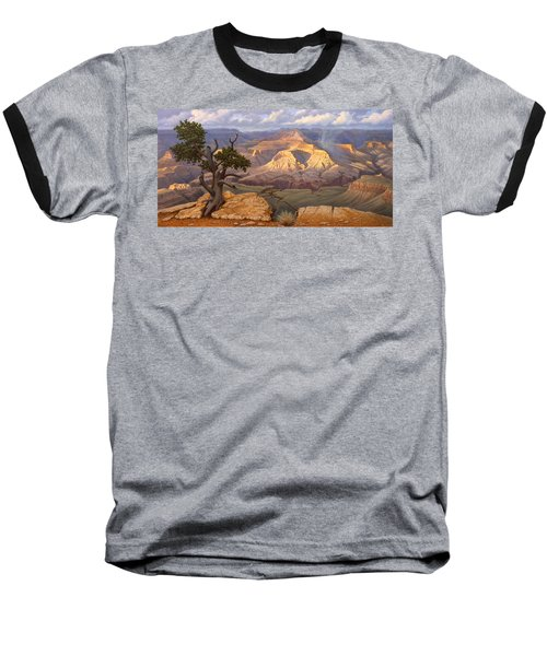 Zoroaster Temple From Yaki Point Baseball T-Shirt by Paul Krapf