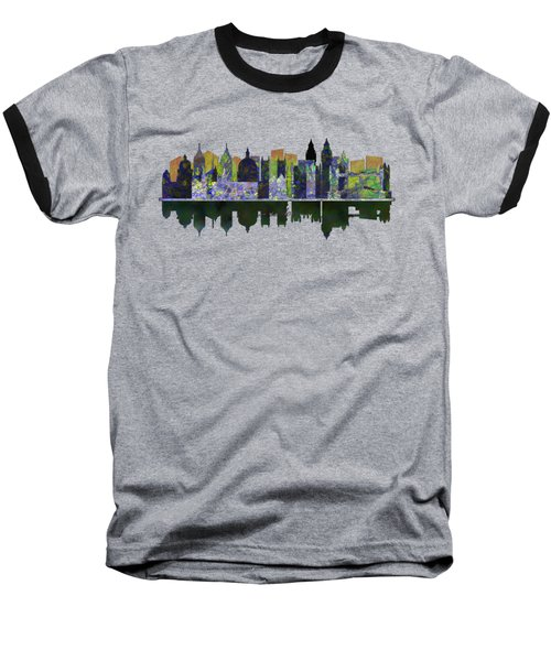 London England Skyline Baseball T-Shirt by John Groves