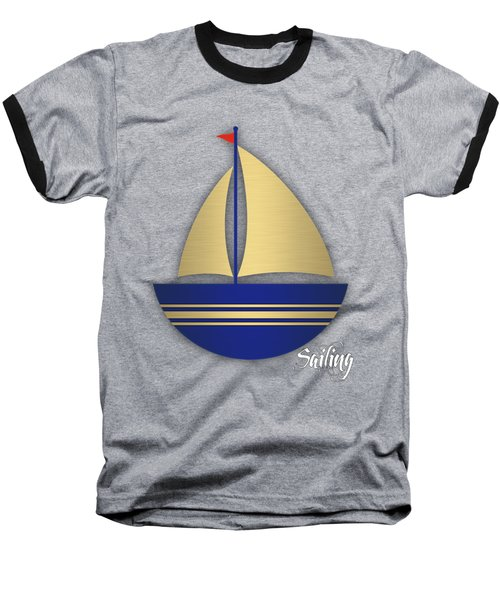Nautical Collection Baseball T-Shirt by Marvin Blaine