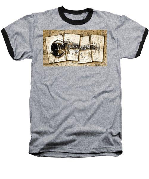1955 Les Paul Custom Black Beauty V5 Baseball T-Shirt by Gary Bodnar