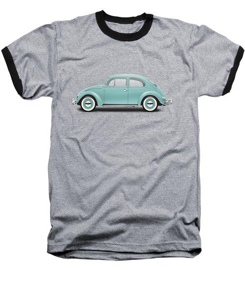 1961 Volkswagen Deluxe Sedan - Turquoise Baseball T-Shirt by Ed Jackson