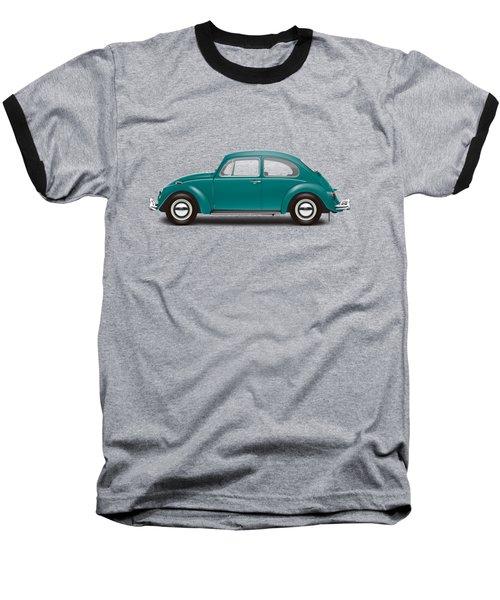 1967 Volkswagen Sedan - Java Green Baseball T-Shirt by Ed Jackson