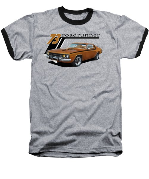 1973 Roadrunner Baseball T-Shirt by Paul Kuras