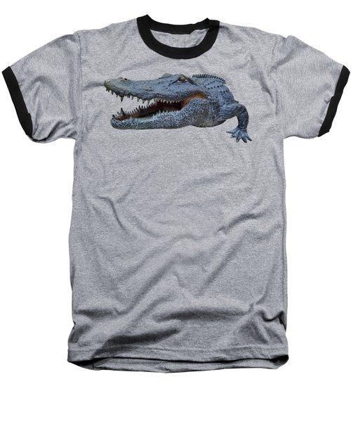 1998 Bull Gator Up Close Transparent For Customization Baseball T-Shirt by D Hackett
