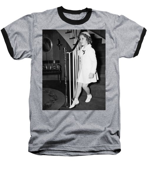 Actress Shirley Temple Baseball T-Shirt by Underwood Archives