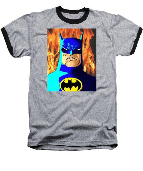 Old Batman Baseball T-Shirt by Salman Ravish