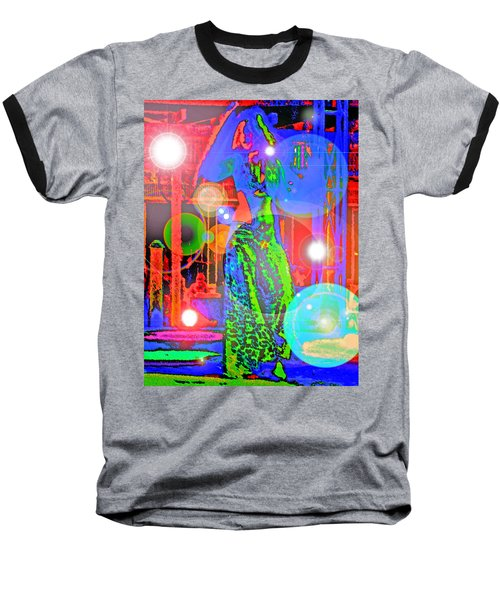Belly Dance Baseball T-Shirt by Andy Za