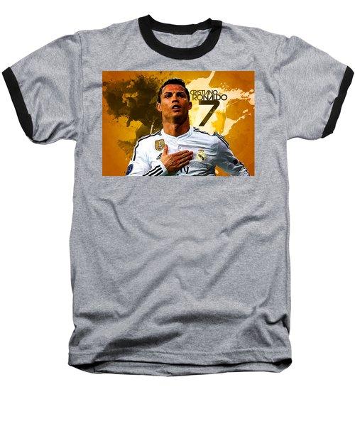 Cristiano Ronaldo Baseball T-Shirt by Semih Yurdabak