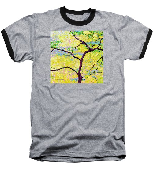 Baseball T-Shirt featuring the digital art Dogwood Tree In Spring by A Gurmankin