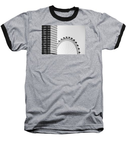 London Eye Baseball T-Shirt by Joana Kruse