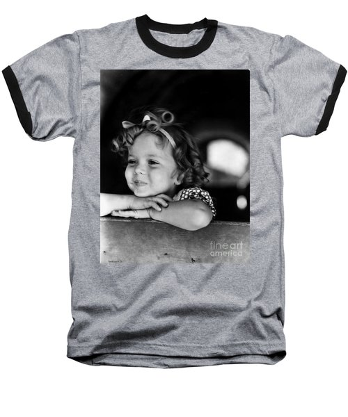 Shirley Temple (1928- ) Baseball T-Shirt by Granger