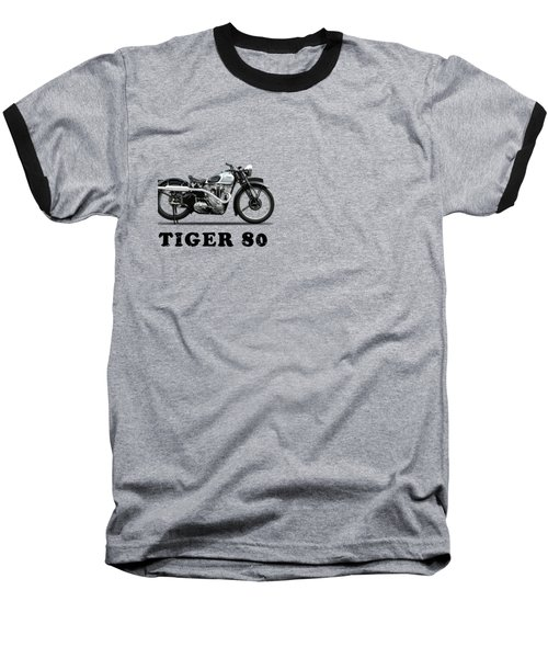 Triumph Tiger 80 1937 Baseball T-Shirt by Mark Rogan