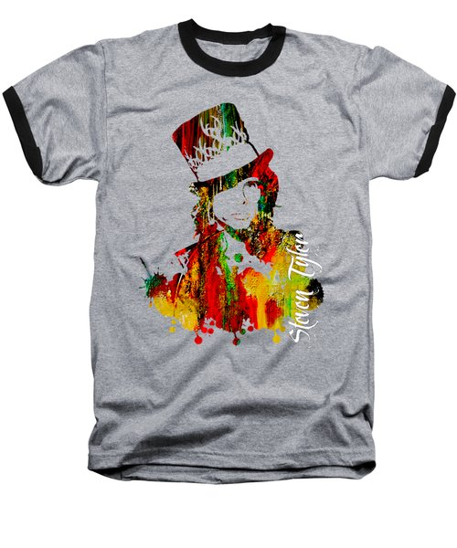 Steven Tyler Collection Baseball T-Shirt by Marvin Blaine