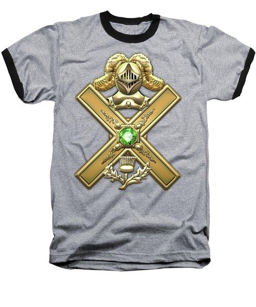 29th Degree Mason - Scottish Knight Of Saint Andrew Masonic Jewel  Baseball T-Shirt by Serge Averbukh