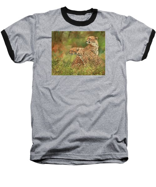 Cheetahs Baseball T-Shirt by David Stribbling