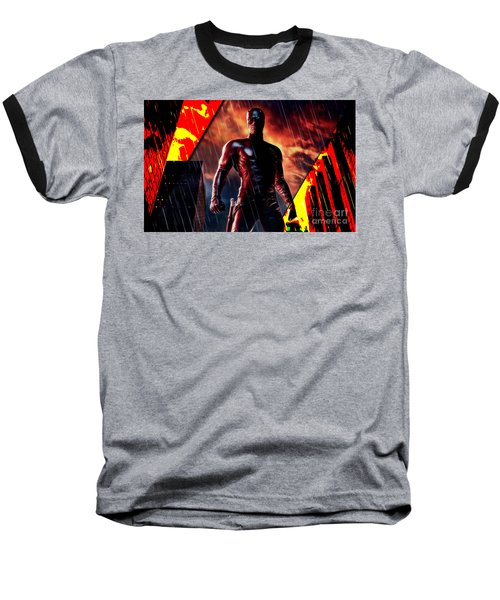 Daredevil Collection Baseball T-Shirt by Marvin Blaine