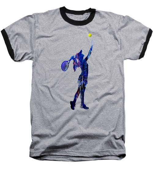 Womens Tennis Collection Baseball T-Shirt by Marvin Blaine