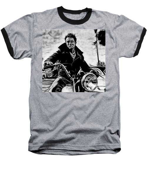 James Dean Collection Baseball T-Shirt by Marvin Blaine