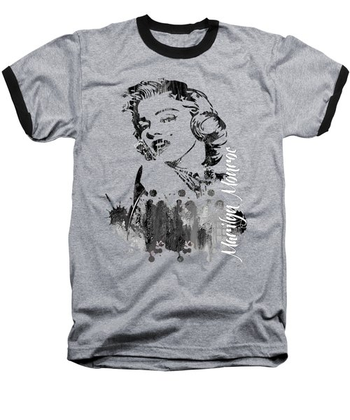 Marilyn Monroe Collection Baseball T-Shirt by Marvin Blaine