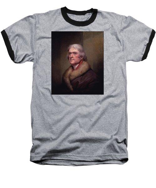 President Thomas Jefferson Baseball T-Shirt by War Is Hell Store