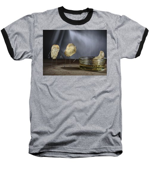 Simple Things - Potatoes Baseball T-Shirt by Nailia Schwarz