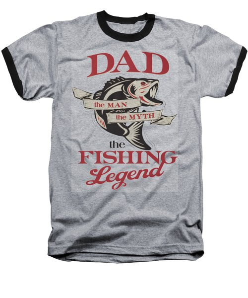 Fishing Baseball T-Shirt by Thucidol