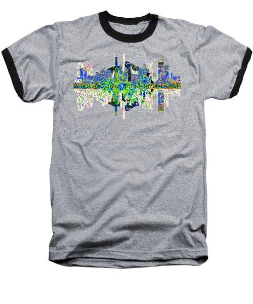 Tokyo Skyline Baseball T-Shirt by John Groves