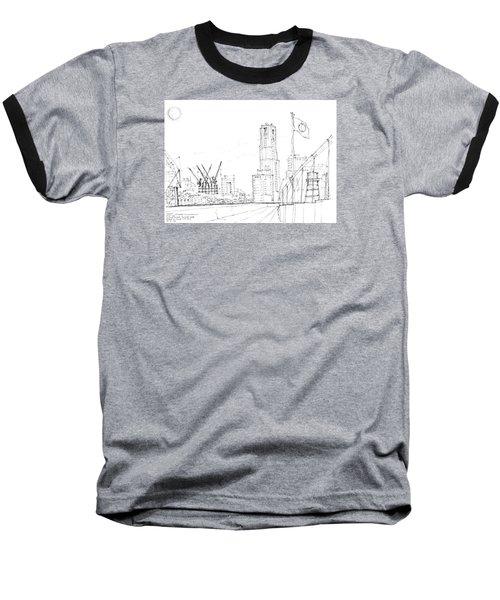 5.2.japan-1-tokyo-skyline Baseball T-Shirt by Charlie Szoradi
