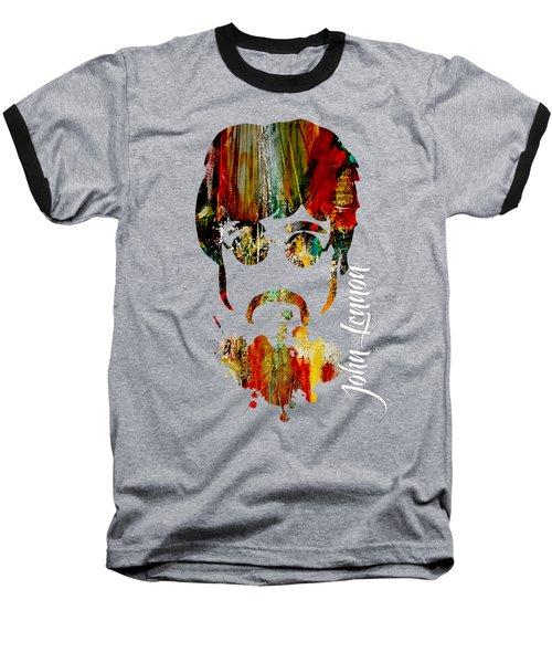 John Lennon Collection Baseball T-Shirt by Marvin Blaine