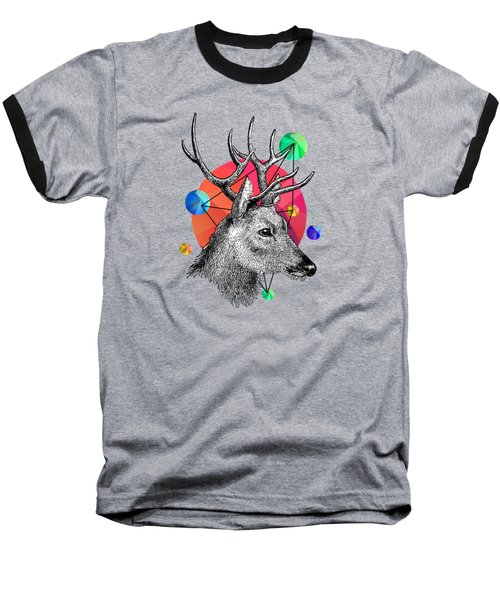 Deer Baseball T-Shirt by Mark Ashkenazi