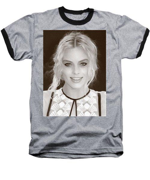 Actress Margot Robbie Baseball T-Shirt by Best Actors