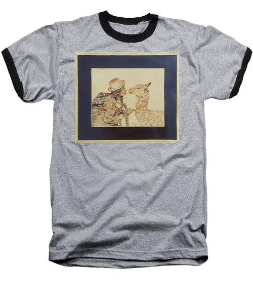 A Door To The Andean Heart Baseball T-Shirt by Pamela Puch Santillan