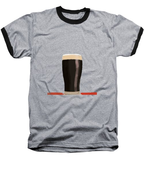 A Glass Of Stout Baseball T-Shirt by Keshava Shukla