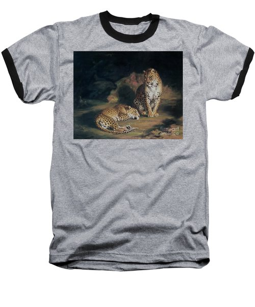 A Pair Of Leopards Baseball T-Shirt by William Huggins