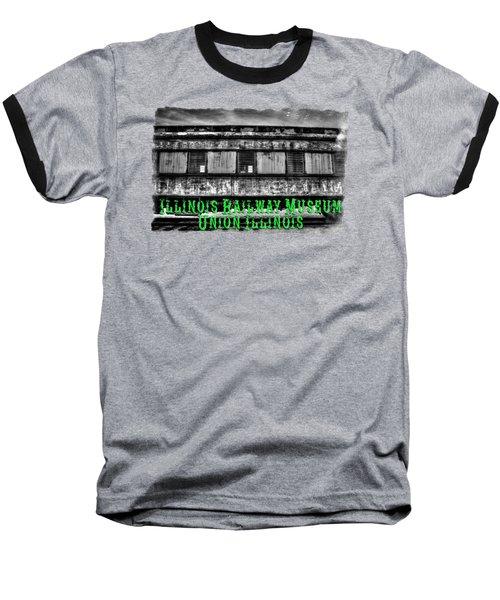 Abandoned Circus Transport Car Baseball T-Shirt by Roger Passman