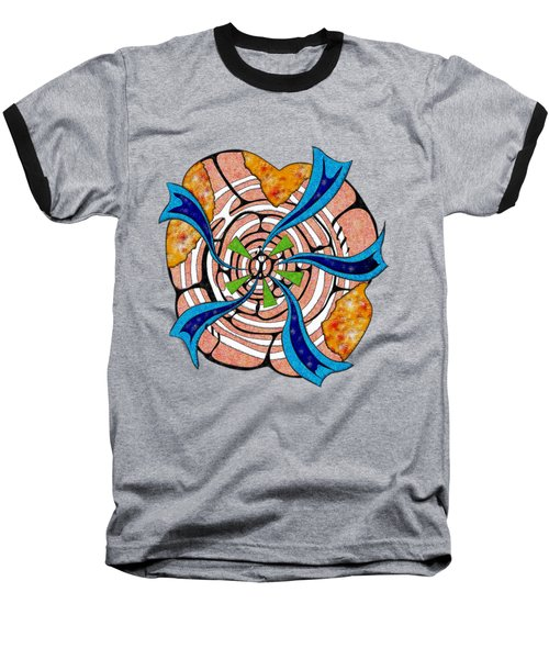 Abstract Digital Art - Ciretta V3 Baseball T-Shirt by Cersatti