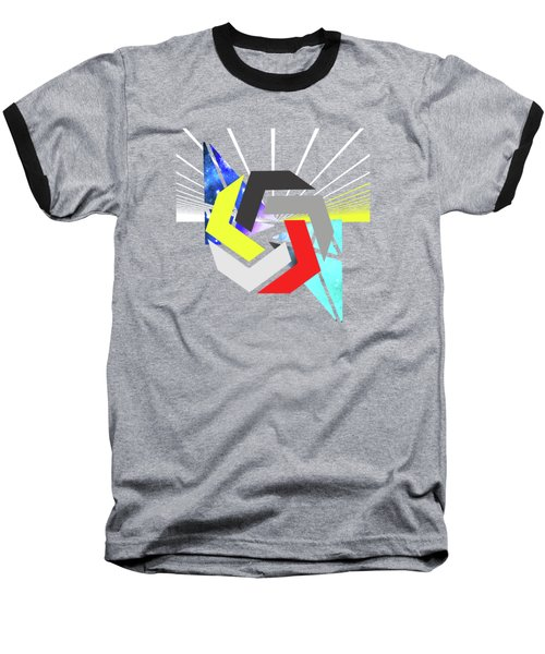 Abstract Space 6 Baseball T-Shirt by Russell K