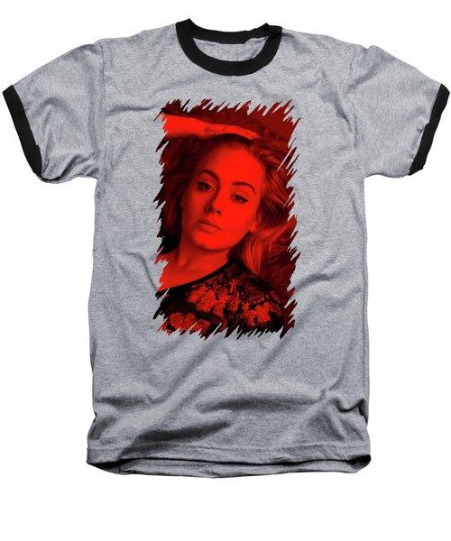 Adele - Celebrity Baseball T-Shirt by Mona Jain