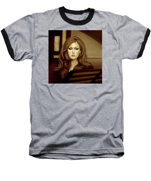 Adele Gold Baseball T-Shirt by Paul Meijering