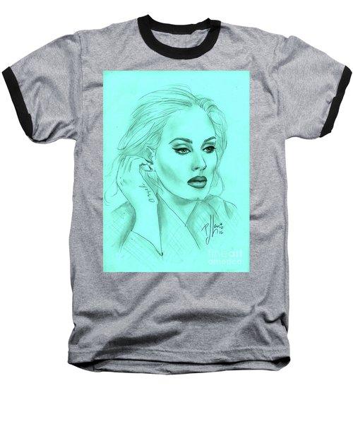 Adele Baseball T-Shirt by P J Lewis