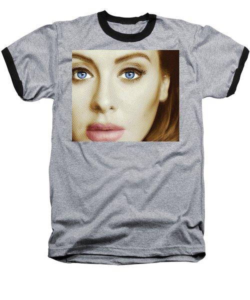 Adele Painting Circle Pattern 1 Baseball T-Shirt by Tony Rubino