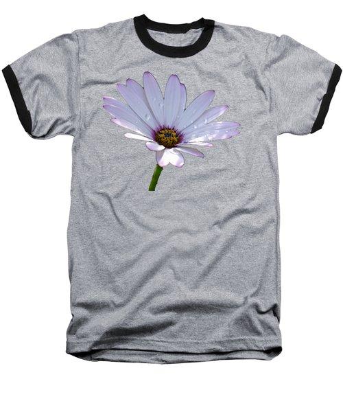 African Daisy Baseball T-Shirt by Scott Carruthers