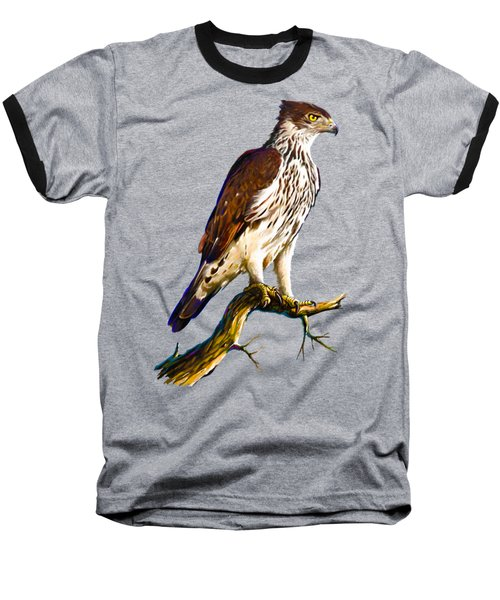 African Hawk Eagle Baseball T-Shirt by Anthony Mwangi