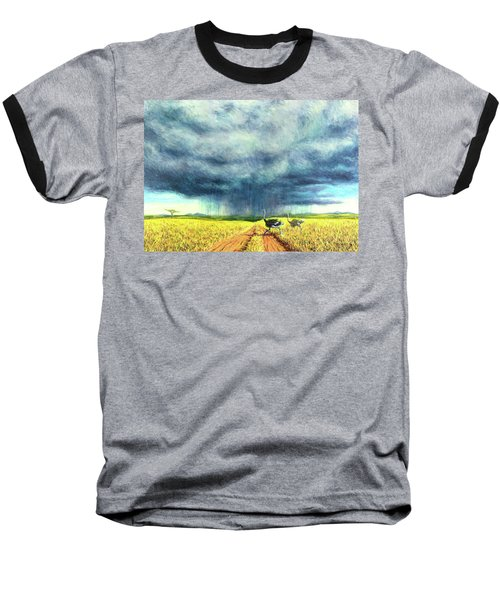 African Storm Baseball T-Shirt by Tilly Willis